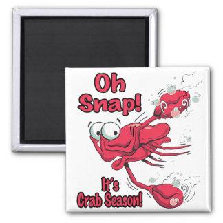 oh broche su cangrejo asustado divertido de la est imán para frigorifico