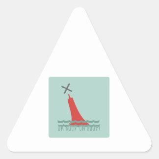 Oh Buoy! Triangle Sticker