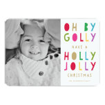 "Oh by Golly | Holiday Photo Card 5"" X 7"" Invitation Card"
