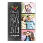 "Oh By Golly Holiday Photo Card 5"" X 7"" Invitation Card"