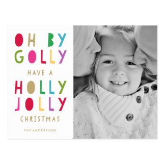 Oh By Golly | Holiday Postcard