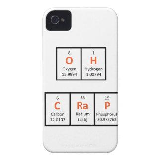 Oh caja de la tabla periódica de la mierda Case-Mate iPhone 4 protector
