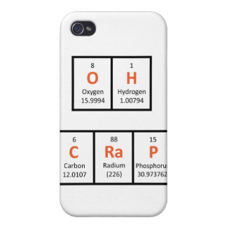 Oh caja de la tabla periódica de la mierda iPhone 4 carcasa