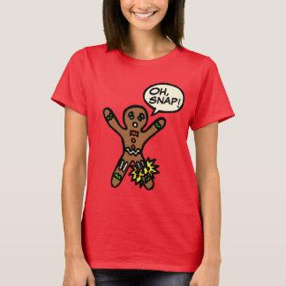Oh camisa rápida del navidad de la galleta del