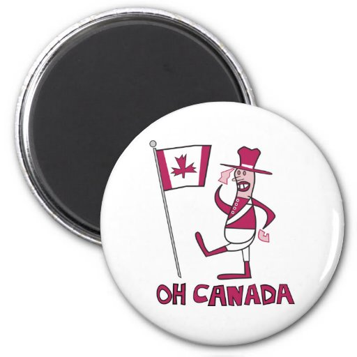 Oh Canada 2 Inch Round Magnet