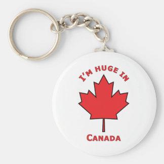 OH Canada! Basic Round Button Keychain
