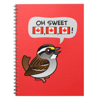 Oh Canadá dulce Libreta Espiral