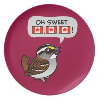 Oh Canadá dulce Plato De Comida