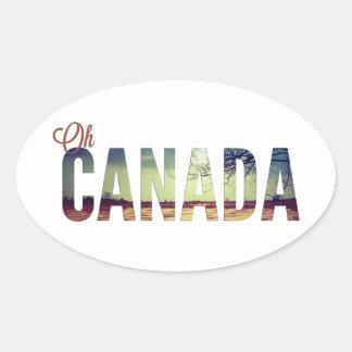Oh Canadá Colcomanias De Oval Personalizadas