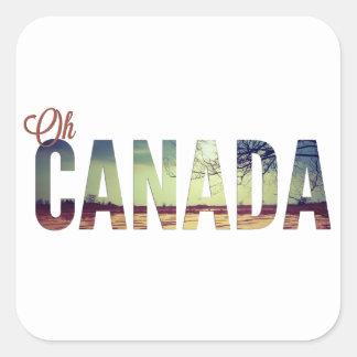 Oh Canadá Calcomanía Cuadradas Personalizadas