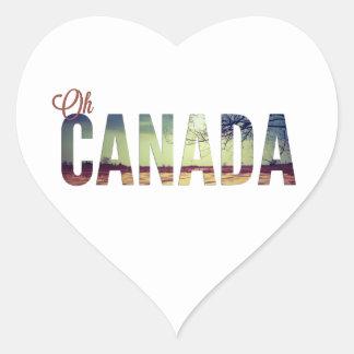 Oh Canadá Calcomanía De Corazón Personalizadas