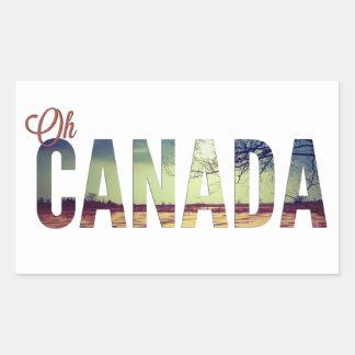 Oh Canadá Rectangular Pegatinas