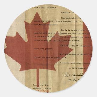 ¡OH! Canadá Etiquetas Redondas