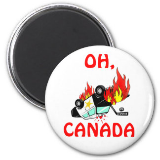 OH, CANADA - Vancouver Riots 2 Inch Round Magnet