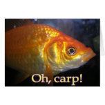 Oh, carp! Belated Birthday Greeting Card
