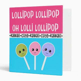 Oh carpeta del estilo de Kawaii del Lollipop