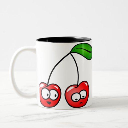 ¡Oh, cereza para arriba! Taza de café de las