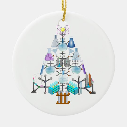 Oh Chemistry, Oh Chemist Tree Ceramic Ornament