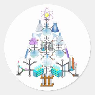 Oh Chemistry, Oh Chemist Tree Classic Round Sticker