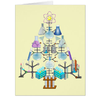 Oh Chemistry, Oh Chemist Tree Large Greeting Card