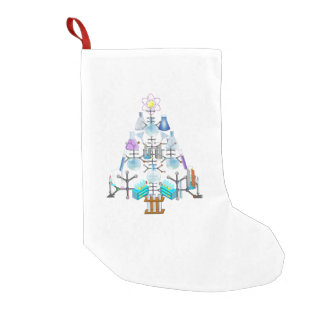 Oh Chemistry, Oh Chemist Tree Small Christmas Stocking