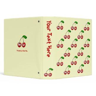 Oh, Cherry Up! Cherries Pattern Binder binder