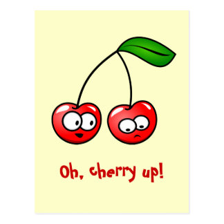 Oh, Cherry Up! Cherries Postcard