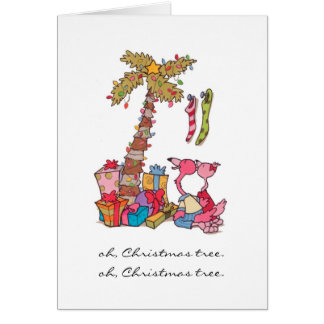 Oh, Christmas Tree Flamingo's Card