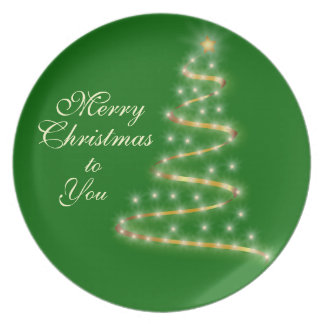 Oh Christmas Tree Gift Platter Plate