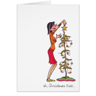 """""""oh, Christmas Tree"""" holiday notecard Stationery Note Card"""