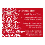 """Oh Christmas Tree! Holiday Party Invitation 5"""" X 7"""" Invitation Card"""