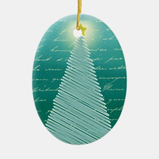 Oh Christmas Tree Double-Sided Oval Ceramic Christmas Ornament