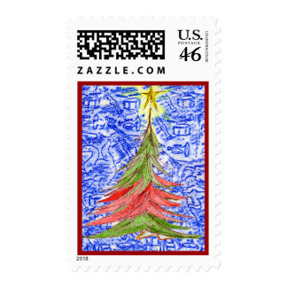 Oh Christmas Tree Postage Stamps