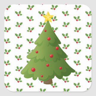 Oh Christmas tree Square Sticker
