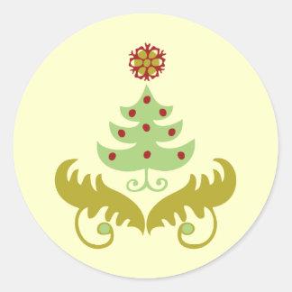 Oh Christmas Tree Classic Round Sticker