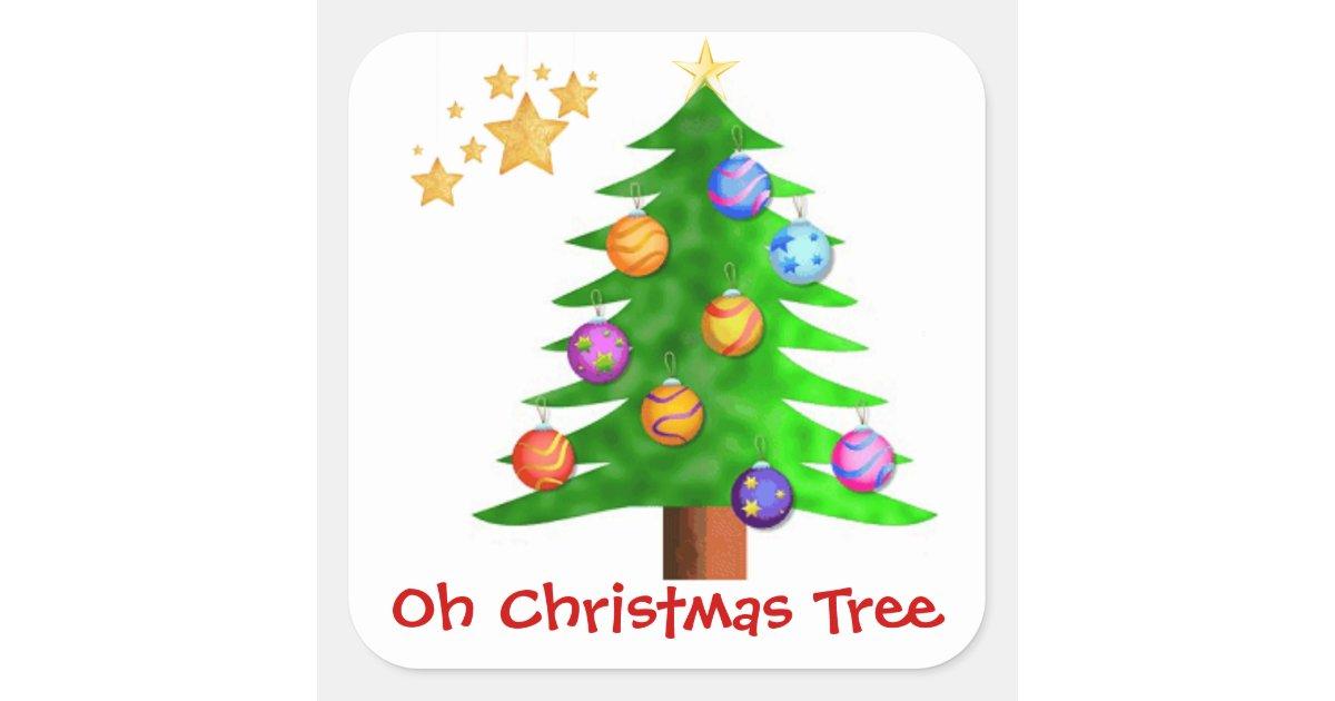 Oh christmas tree stickers zazzle