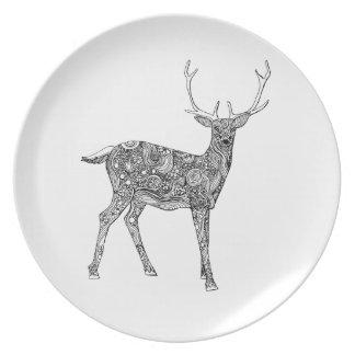 Oh ciervos plato para fiesta
