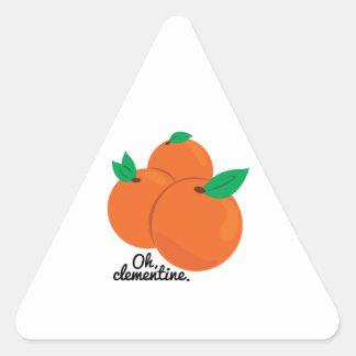 Oh clementina pegatina triangular