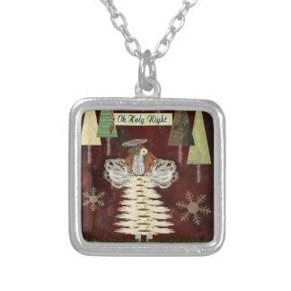 Oh collar santo del cuadrado de la plata del ángel