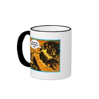 Oh come on, make an effort, man! ringer coffee mug