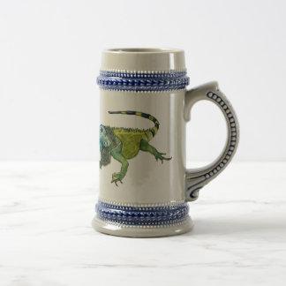 Oh cómo va a casa la iguana jarra de cerveza