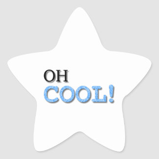 Oh Cool Text Star Sticker