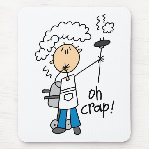 Oh Crap Funny Barbecue Gift Mouse Pad