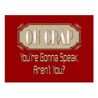Oh Crap Postcard