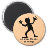 Oh crap, the sky is falling fridge magnets