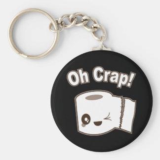 Oh Crap (Toilet Paper) Basic Round Button Keychain