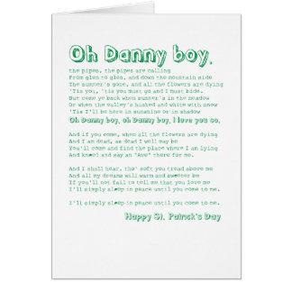 Oh Danny boy! Card