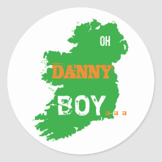 Oh Danny Boy St Paddys Day cool Eire Map Classic Round Sticker