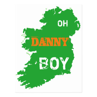 Oh Danny Boy St Paddys Day cool Eire Map Postcard