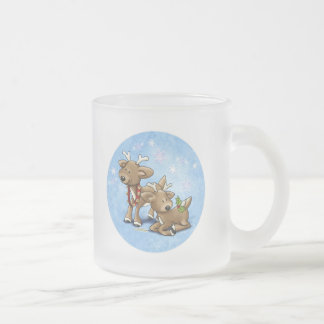 Oh Dear - Christmas is here! Frosted Glass Coffee Mug
